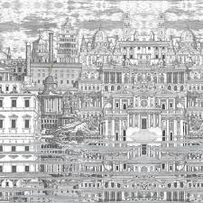 Fornasetti Curtains Riflesso Fornasetti Wallpaper Cole And Son