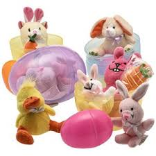 easter eggs filled with toys jumbo 6 easter eggs filled with plush easter bunny s ducks and