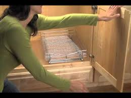 installing pull out drawers in kitchen cabinets how to install roll out cabinet drawers solutions com youtube