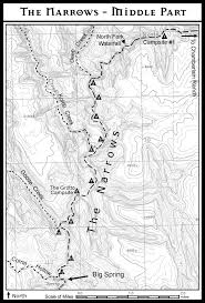 Robbers Cave State Park Map Zion The Narrows As A Top Down Backpacking Trip