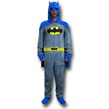 batman grey union suit pajamas w cape and cowl