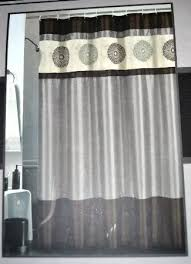curtain gray and brown shower curtain curtains