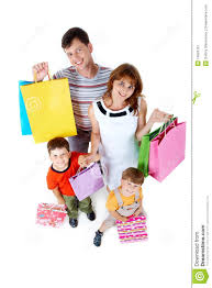 family with gifts stock image image 14583761