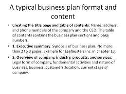 chapter 5 writing the winning business plan objectives value of