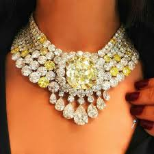 yellow diamond necklace images A gorgeous yellow diamond and diamond necklace eyes desire gems jpg
