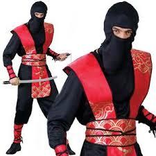 Samurai Halloween Costume Ninja Master Martial Arts Samurai Fancy Dress Costume Mens