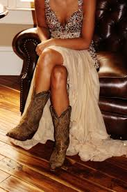 country prom dresses with boots