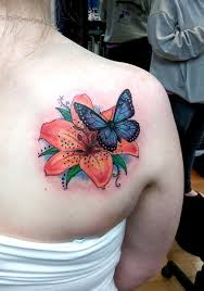 Flower Butterfly Tattoos 01 55 Butterfly Flower Tattoos