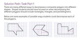 solve for the area of a composite figure by decomposing it into