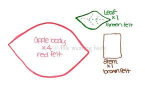 while wearing heels i food felt apple tutorial