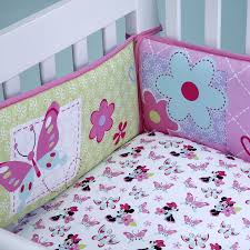Crib Bedding Set Minnie Mouse Minnie Mouse Simply Adorable Bumper Disney Baby