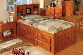 Captains Pedestal Bed Captains Bed With Bookshelf Headboard 12446