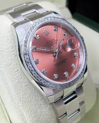 bentley pink diamonds rolex datejust 116200 pink diamond dial bezel 36mm stainless steel