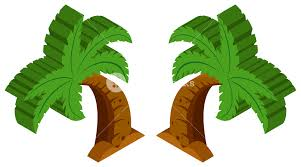 3d design for coconut tree illustration royalty free stock image