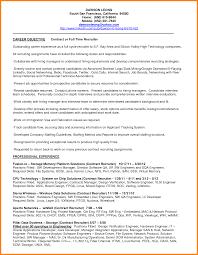 Recruiter Resume Examples Resume Recruiter Resume
