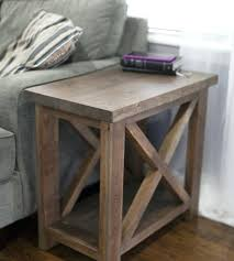 Rustic Side Tables Living Room Side End Table End Table White Custom Farmhouse End Table Rustic