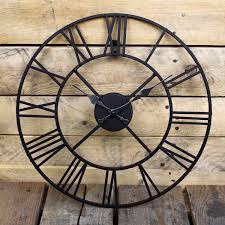 stunning metal roman numeral clock black u0027iron u0027 amazon co uk