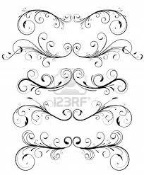 decorative elemâ flowers ornamental scroll stock photos