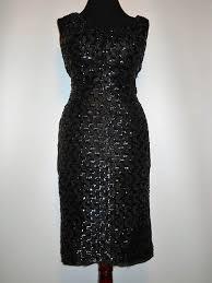 rochii vintage rochie vintage neagra din dantela cu paiete anii 50