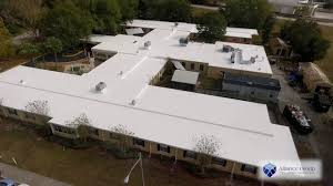 Dicor Epdm Rubber Roofing Coating System by Gaco Western Silicone Roof Coating Over Epdm In Longwood Fl Youtube
