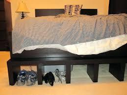 Walmart Bed Frame With Storage Metal Bed Frame Risers On Neat For Bed Frame With Storage