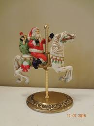 homco home interiors vintage santa riding carousel horse figurine homco home interiors