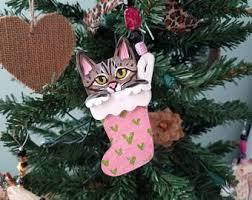 cat ornament personalized cat ornament