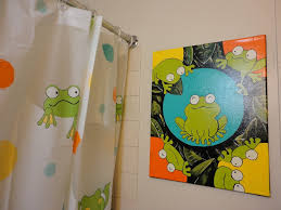 frog shower curtain set for kids all home ideas and decor image of frog shower curtains bathroom decoration