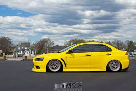 mitsubishi evo stance car yellow cars mitsubishi lancer evo x vehicle car wallpapers