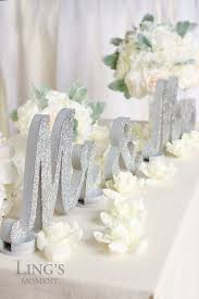 mr mrs wedding table decorations mr and mrs glitter letters sweetheart table decorations silver