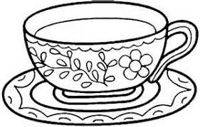 Tea Cup Coloring Sheet Murderthestout Cup Coloring Page