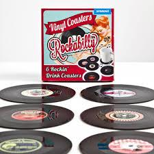 spinning hat rockabilly vinyl coasters noveltystreet