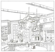 drawn kitchen hand drawn pencil and in color drawn kitchen hand