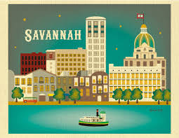 spirit halloween savannah ga savannah print savannah ga skyline georgia wall art savannah