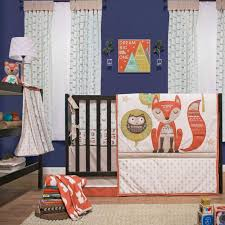 clever fox 5 piece baby crib bedding set with bumper by little