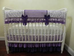 Purple Crib Bedding Set Purple Crib Bedding Set Hermione Baby Bedding