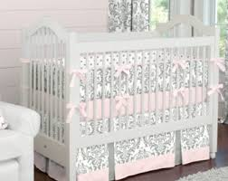 Brown And Pink Crib Bedding Baby Bedding Etsy