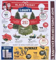 lowes artificial christmas trees with lights lowes complete black friday flyer 2015 front page