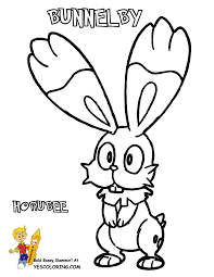 659 pokemon bunnelby coloring page at yescoloring gif 928 1200