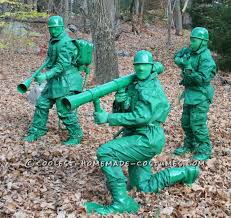 Green Army Man Halloween Costume Toy Soldier Army