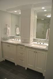 double bathroom vanities with middle cabinet white double vanity