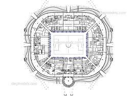 stadium floor plan athletic facilities dwg models free download