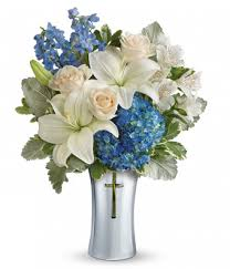 Vase With Roses Blue Spirit Bouquet At From You Flowers