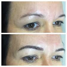 Eyebrow Tattoo Before And After Cosmetic Tattooing Katrinas
