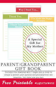 parent gift book printable lighttheworld your everyday family