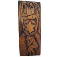 jean claude gaugy symbolic wood carving for sale at 1stdibs