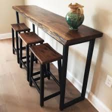 Sofa Bar Table Walnut Pebbles Live Edge Bar Table Live Edge Table In Pa