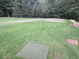 outdoor putting green installation ultrabasesystems