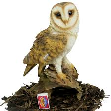 barn owl resin garden ornament 25 64 garden4less uk shop