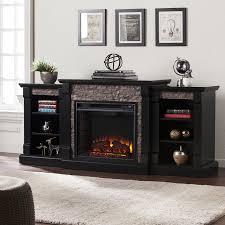 shop boston loft furnishings 71 75 in w satin black mdf led